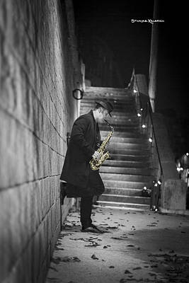 Photograph - The Golden Saxophone Player by Stwayne Keubrick