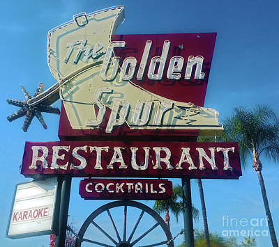 Photograph - The Golden Spur Vintage Sign by Gregory Dyer