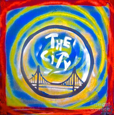 Berkeley Painting - The Golden State City #1 by Tony B Conscious