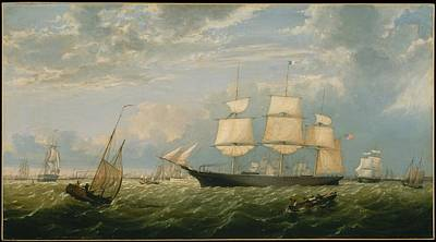 Fitz Painting - The Golden State Entering New York Harbor by MotionAge Designs