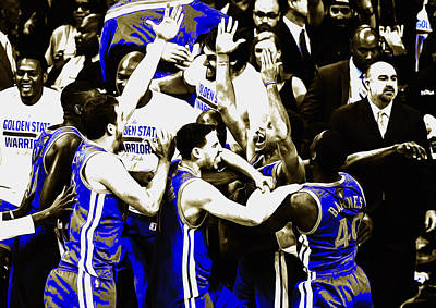 The Golden State Warriors Victorious Art Print by Brian Reaves