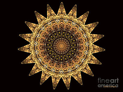 The Golden Sun Mandala Art Print by Sandra Gallegos