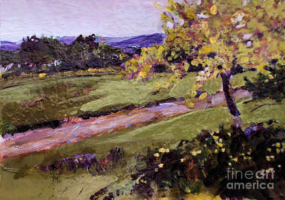 Art Print featuring the painting The Golden Tree by Diane Ursin