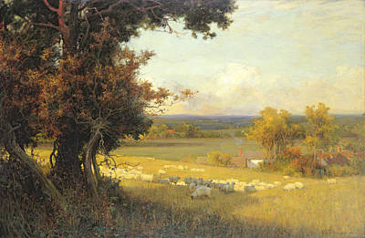 Chimney Painting - The Golden Valley by Sir Alfred East