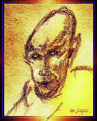 Drawing - The Golden Vampire by Hartmut Jager