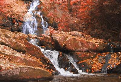 The Golden Waterfall Art Print by Dan Sproul