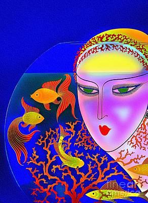 The Goldfish Bowl - Vintage 1920s Art Print