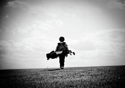 Children Photograph - The Golfer by Shawn Wood