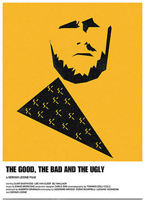 Digital Art - The Good Bad Ugly Clint Eastwood Poster by IamLoudness Studio