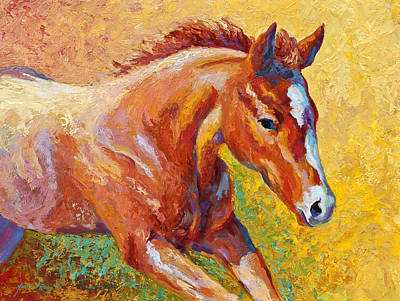 Filly Painting - The Good Life by Marion Rose