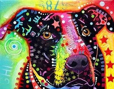 Pitbull Painting - The Good Pit by Dean Russo