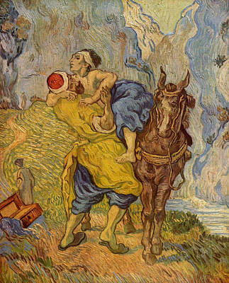 Gogh Painting - The Good Samaritan, After Delacroix by Vincent van Gogh