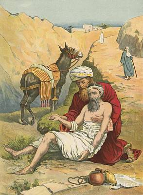 The Good Samaritan Art Print by English School