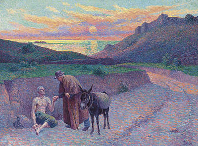Neo-impressionism Painting - The Good Samaritan by Maximilien Luce
