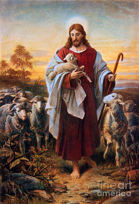 Rabbi Mixed Media - The Good Shepherd by Frederick Holiday