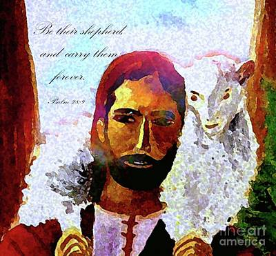 Painting - The Good Shepherd by Hazel Holland