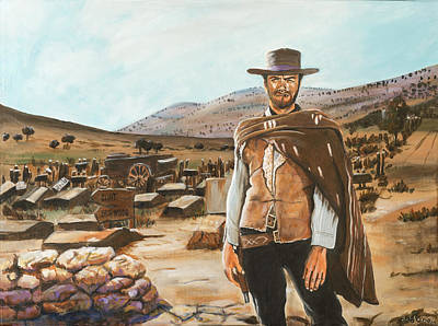 The Good The Bad And The Ugly Art Print by Antonia Del olmo
