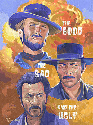 David Robinson Painting - The Good The Bad And The Ugly by David Robinson