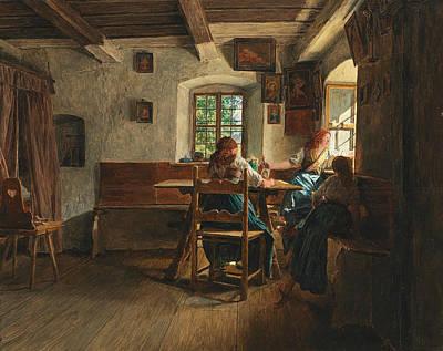 Goodbye Painting - The Goodbye by Ferdinand Georg Waldmuller