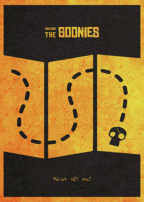 Digital Art - The Goonies Alternative Minimalist Movie Poster by Inspirowl Design