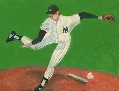 New York Yankees Drawing - The Goose by Jorge Delara