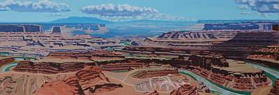 Painting - Dead Horse Point, Moab Utah by Allen Kerns