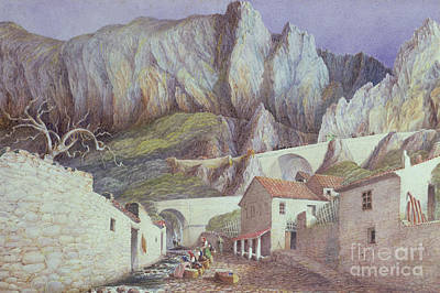 French Laundry Painting - The Gorge At Menton, 1882 by S Holden