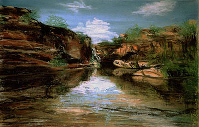 Pastel - The Gorge by Elisabeth Dubois