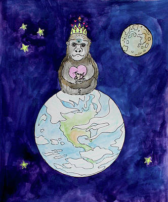 Gorilla Painting - The Gorilla Queen by Bonnie Kelso