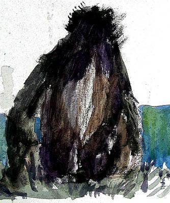 Gorilla Mixed Media - The Gorilla Snub by Mindy Newman