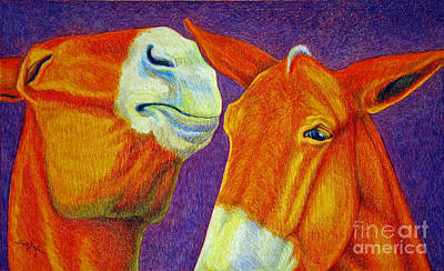 Drawing - The Gossip by Suzanne McKee