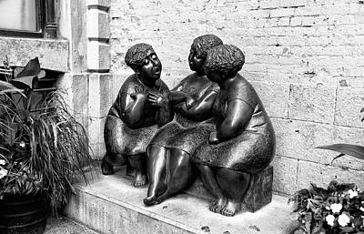 Photograph - The Gossipers In Montreal by John Rizzuto