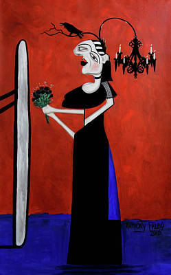 Shower Curtain Digital Art - The Gothic Brides Maid by Anthony Falbo