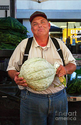 Photograph - The Gourd Man by Craig J Satterlee