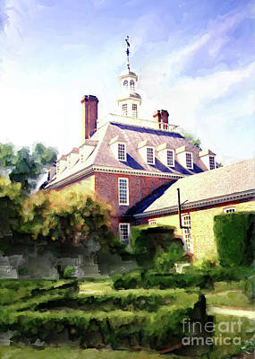 Mansion Digital Art - The Governor's Mansion by Methune Hively