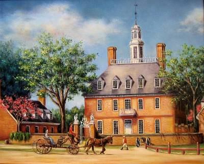 Colonial Williamsburg Painting - The Governor's Palace by Gulay Berryman