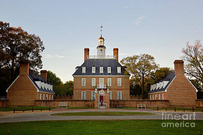 Weathervane Photograph - The Governor's Palace In Williamsburg by Rachel Morrison