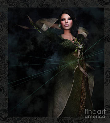 Digital Art - The Gown by Georgina Hannay