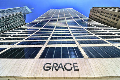 Photograph - Skyscaper Abstract # 7 - The Grace Building by Allen Beatty
