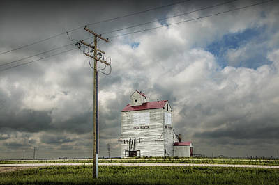 Randall Nyhof Royalty Free Images - The Grain Elevator in Dog River Royalty-Free Image by Randall Nyhof
