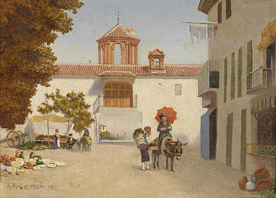 Painting - The Granado Gate. Santa Fe Near Granada by John Mulcaster Carrick