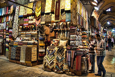 Grand Bazaar Photograph - The Grand Bazaar In Istanbul Turkey by David Smith