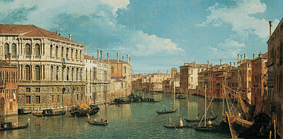 Reflecting Water Painting - The Grand Canal by Canaletto