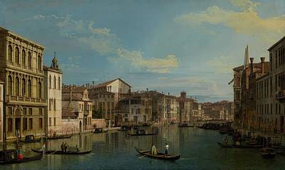 Campo Painting - The Grand Canal In Venice From Palazzo Flangini To Campo San Marcuola by Mountain Dreams