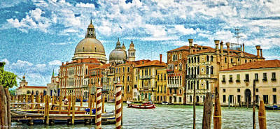 Lucille Ball - The Grand Canal in Venice by Micah Campbell