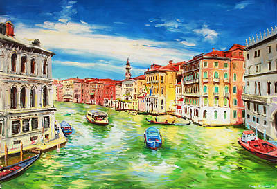 Italian Landscape Painting - The Grand Canal Venice  by Conor McGuire