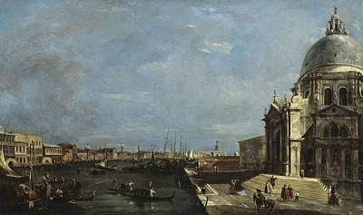 Art Of Building Painting - The Grand Canal, Venice by Francesco Guardi