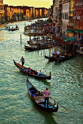 Photograph - The Grand Canal Venice by Harry Spitz