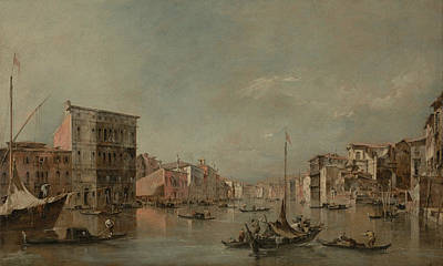 Painting - The Grand Canal, Venice, With The Palazzo Bembo by Treasury Classics Art