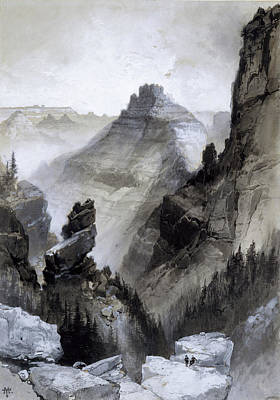Grand Canyon Drawing - The Grand Canyon Drawing            by Thomas Moran